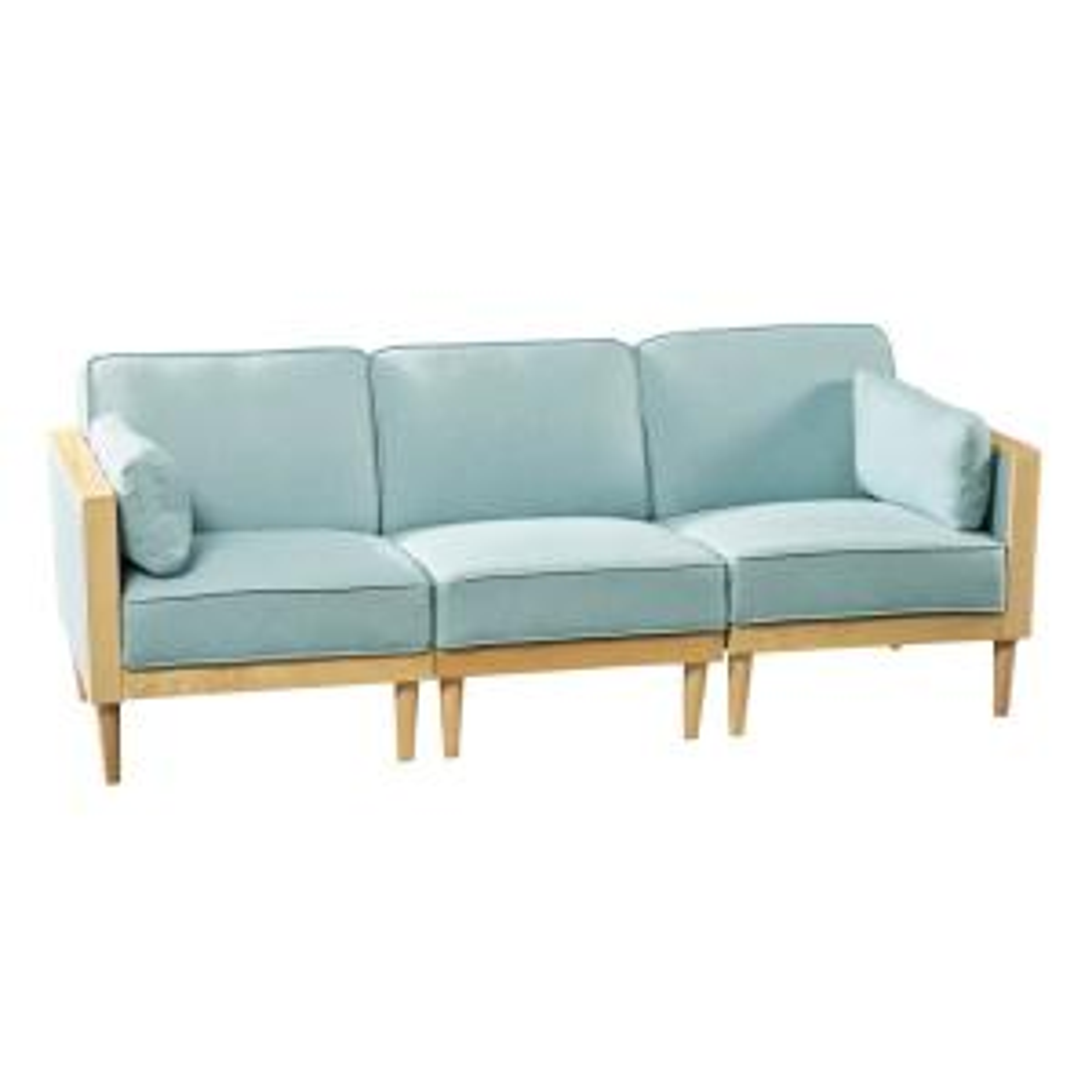 Fantastic Noble House Pembroke Mid Century Modern 3 Piece Sky Blue Machost Co Dining Chair Design Ideas Machostcouk