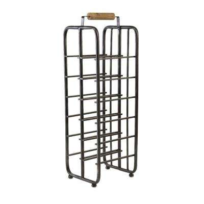 Drummond 12-Botlle Wine Rack with Wooden Handle