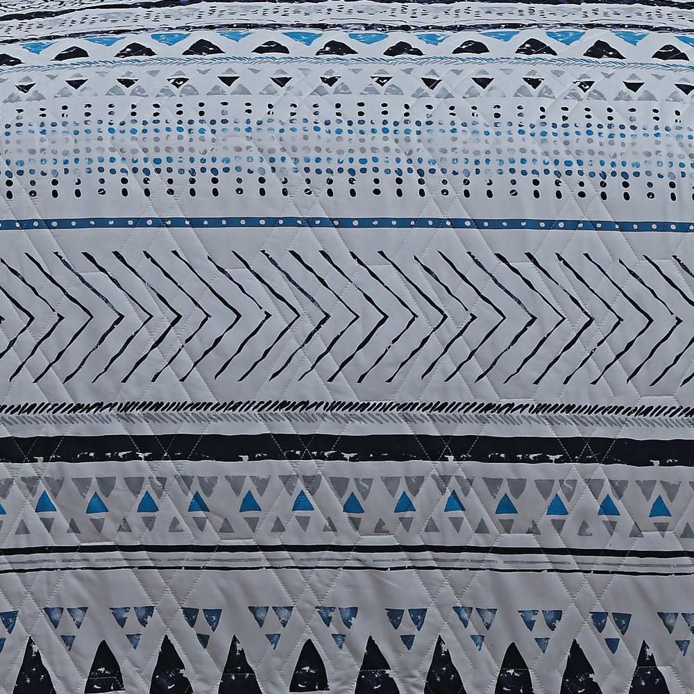 Aspect Imani 5-Piece Blue Queen Quilt Set