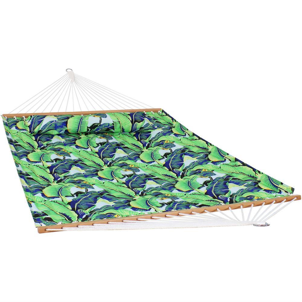 128 in. L Foliage Spreader Bar Hammock Bed
