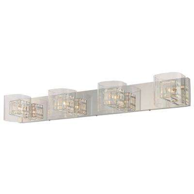 Bling Bling 4-Light Chrome Bath Light