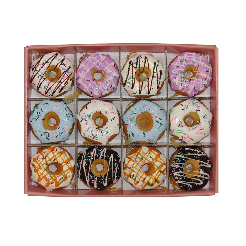 Kurt Adler Set of Twelve 2.75 in. Donut Ornament