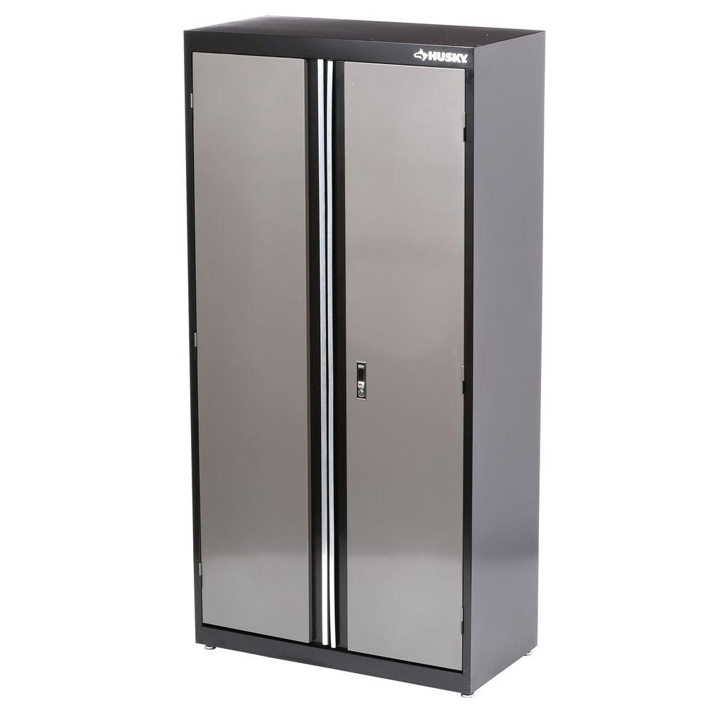 home depot metal cabinets husky 36 in x 72 in welded floor cabinet kf3f361872 h9 16480