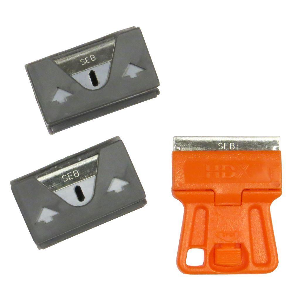 HDX Mini Glass Scraper with 10-Blades