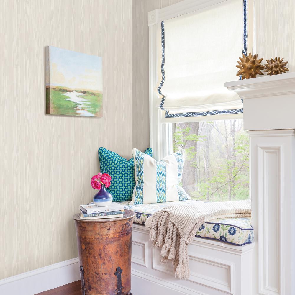 A-Street Illusion Beige Faux Wood Wallpaper Sample-2744 ...