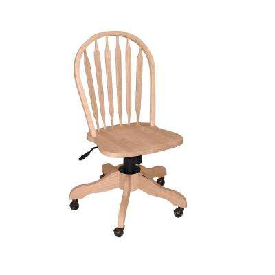 Unfinished Windsor Arrow Back Office Chair