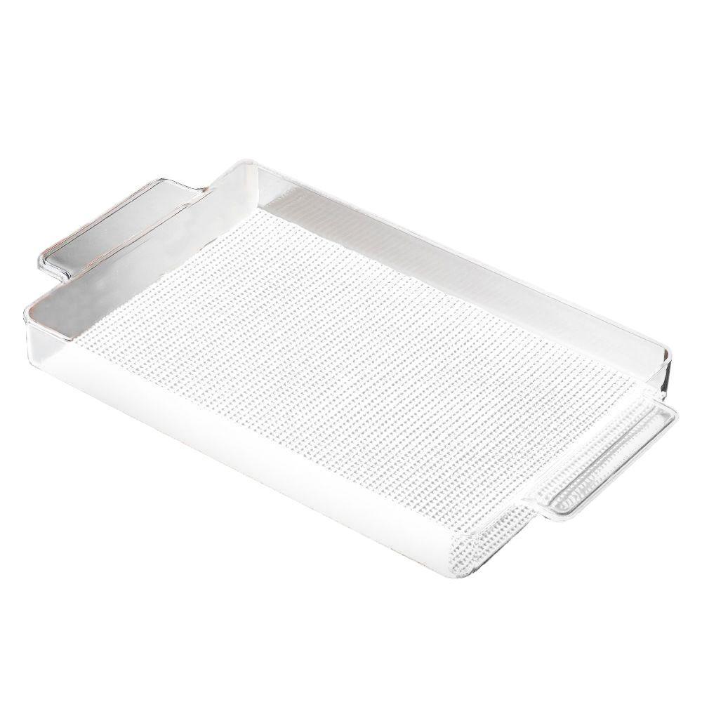 Kraftware Fishnet Rectangular Serving Tray in White by Kraftware