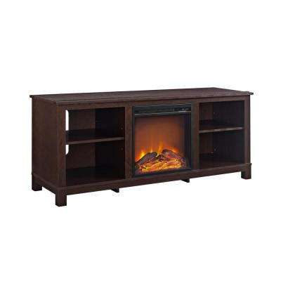 Domingo 60 in. Espresso TV Console with Fireplace