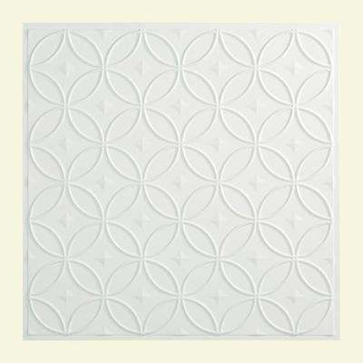 Rings - 2 ft. x 2 ft. Lay-in Ceiling Tile in Matte White
