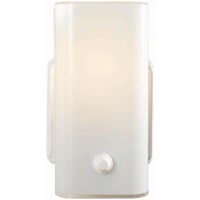 Adeliade 7.25 in. 1-Light Bath White Vanity Light with Glass Shade