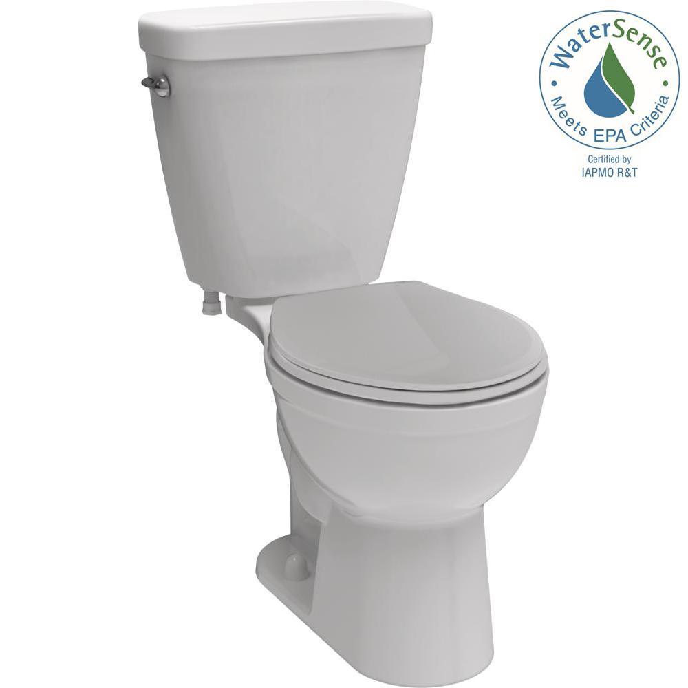 Delta Prelude 2-piece 1.28 GPF Single Flush Round Front Toilet in White