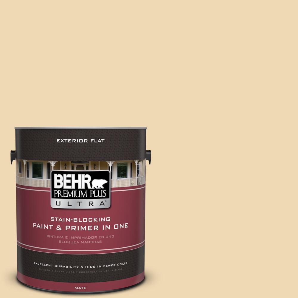 1 gal. #UL180-17 Hummus Flat Exterior Paint