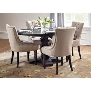 +2. Home Decorators Collection Aldridge Washed Black Dining Table