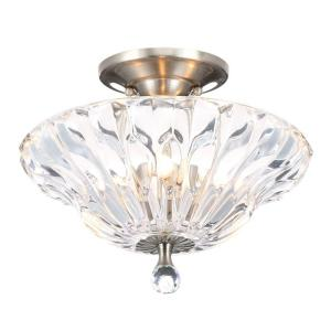 Dale Tiffany Meridith 3-Light Polished Chrome Crystal Semi-Flush Mount Light by Dale Tiffany