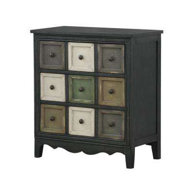 Bakersfield Multicolor 3-Drawer Chest with power