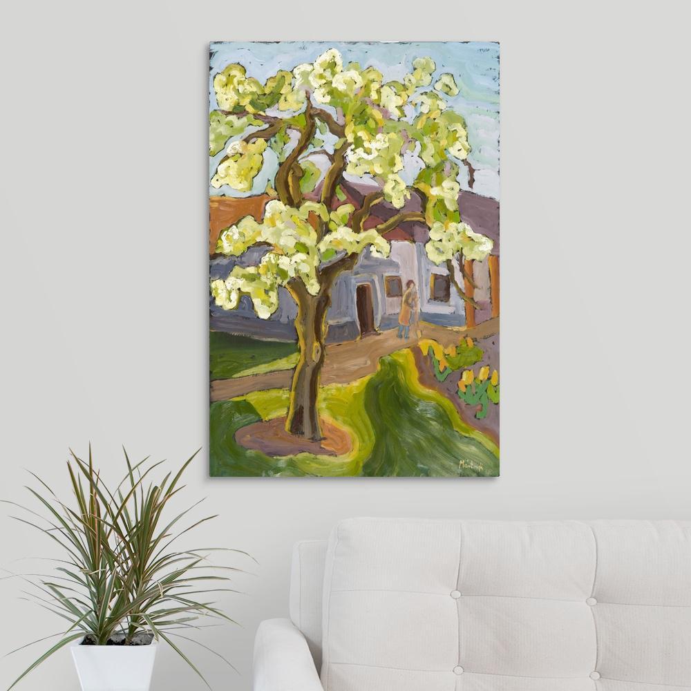 Greatcanvas Blooming Pear Tree 2008 By Marta Martonfi Benke Canvas