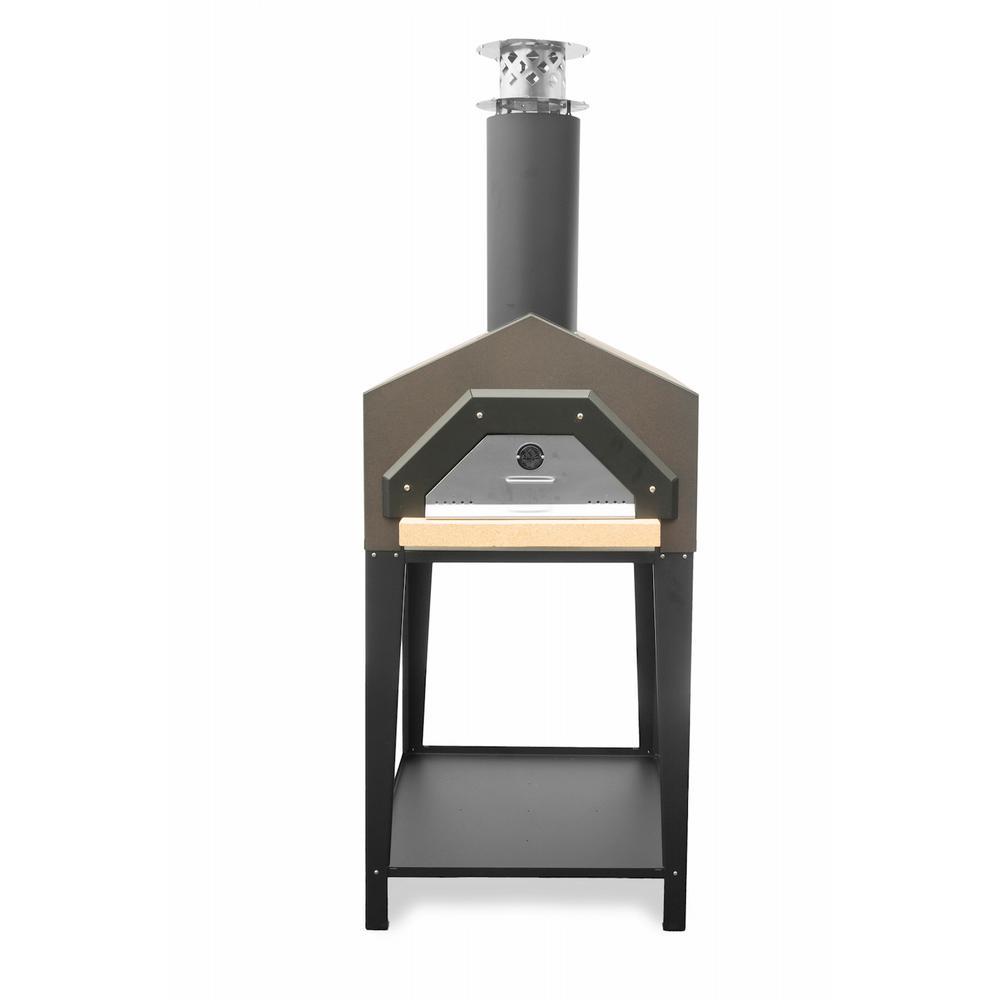 Americano 29-1/2 in. x 30 in. Wood Burning Pizza Oven in Dark Roast