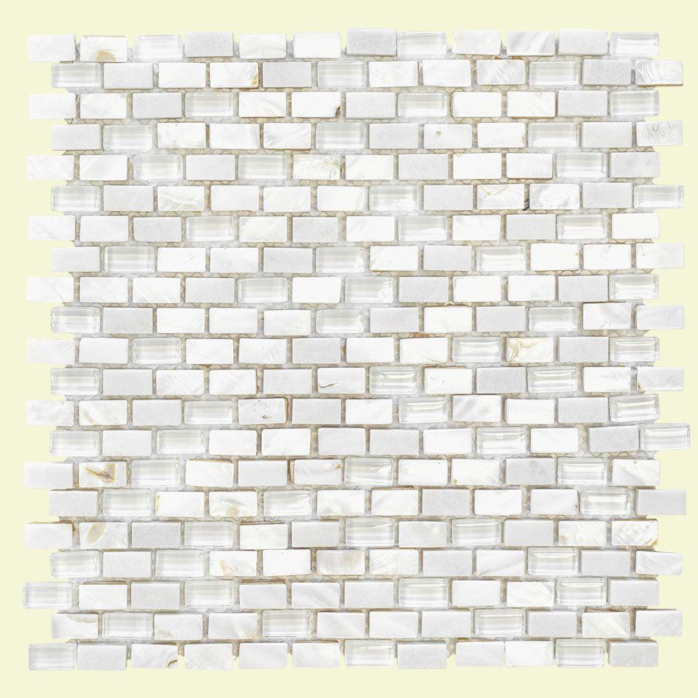 Jeffrey Court Lightning White 15.25 In. X 12 In. X 8 Mm