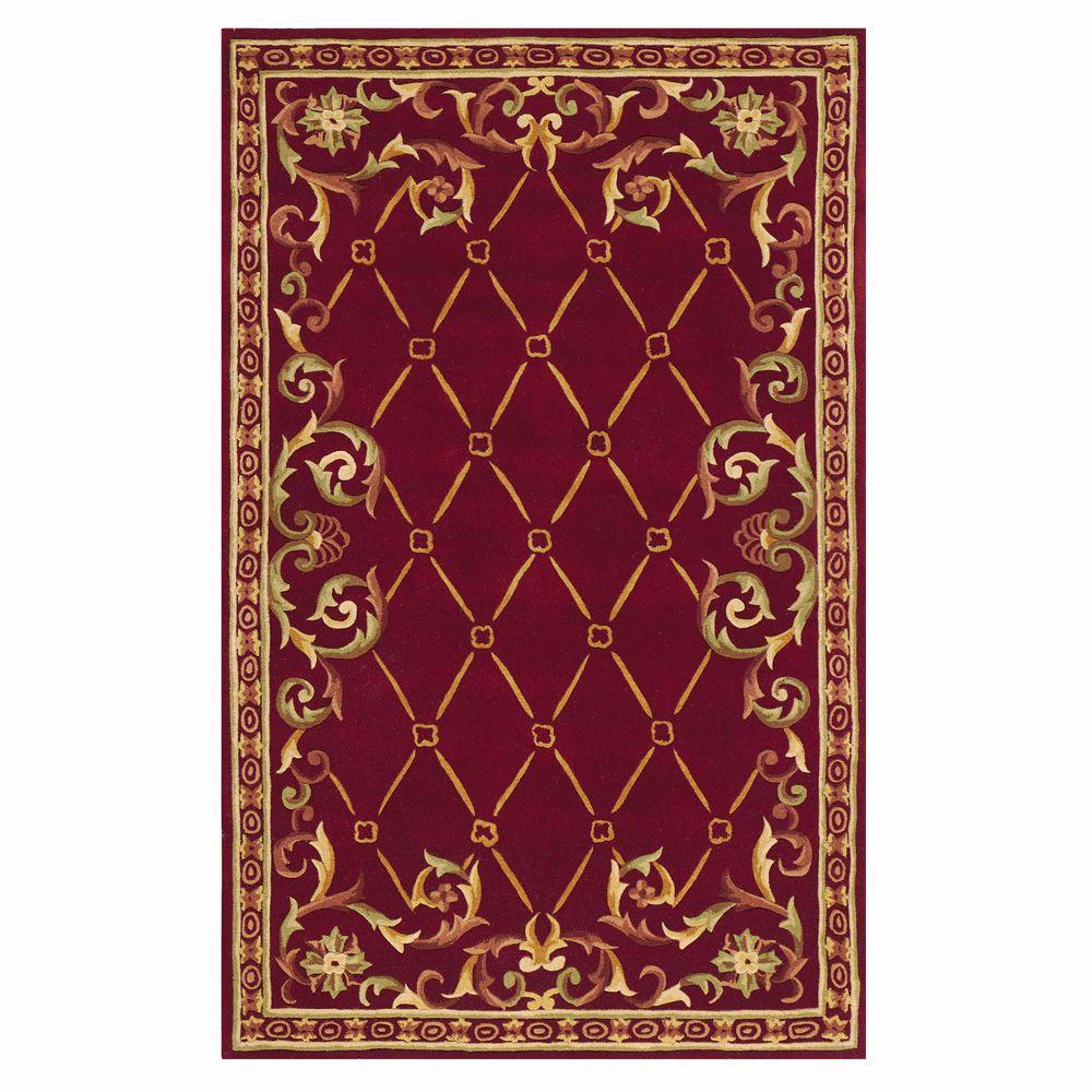 Home Decorators Collection Palisade Burgundy 4 ft. x 6 ft. Area Rug