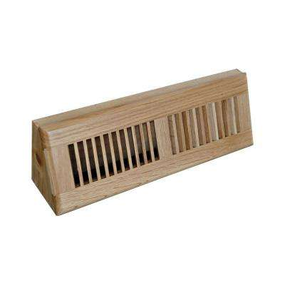 15 in. Wood Oak Baseboard Dark Finished Diffuser