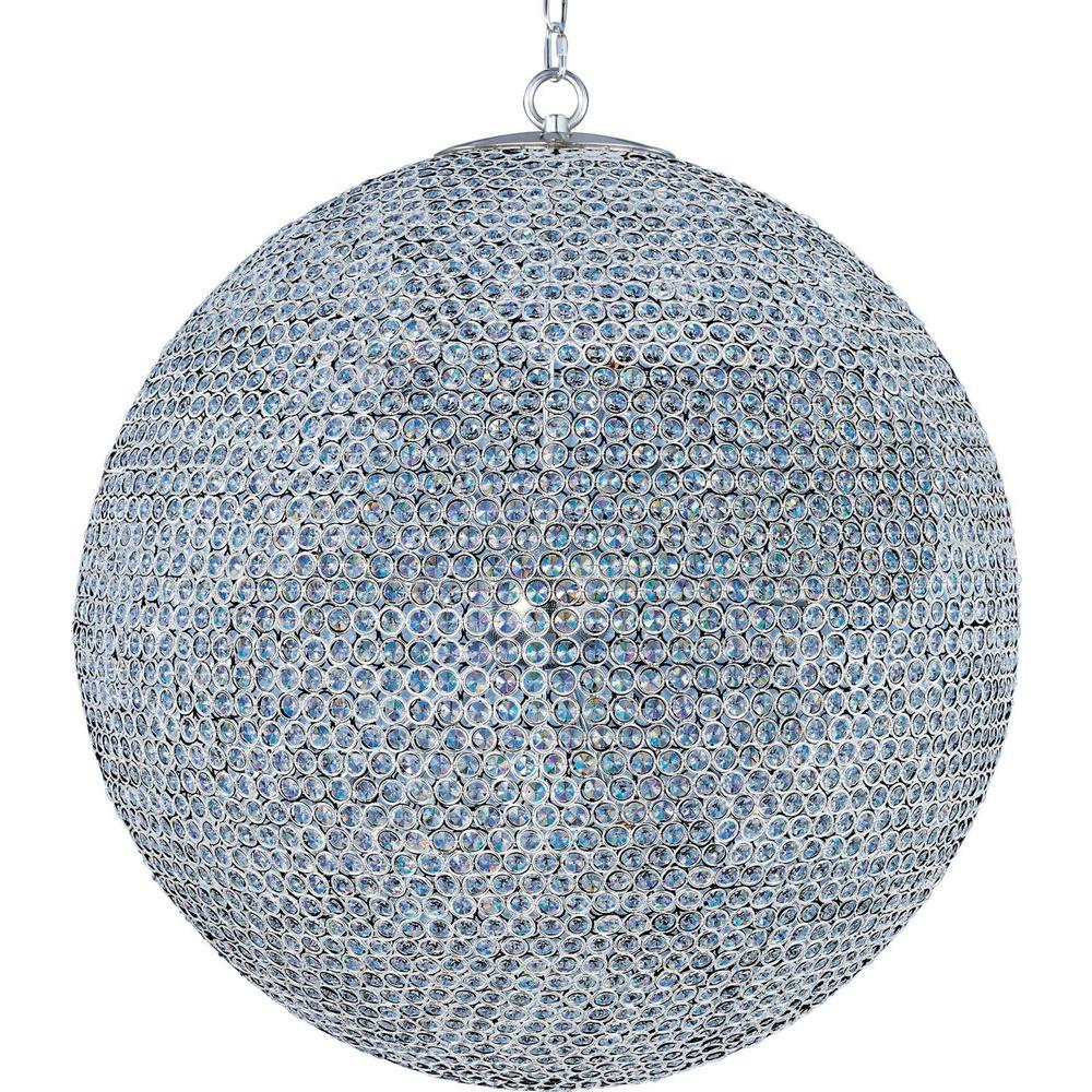 Maxim Lighting Glimmer 18-Light Plated Silver Single-Tier Chandelier