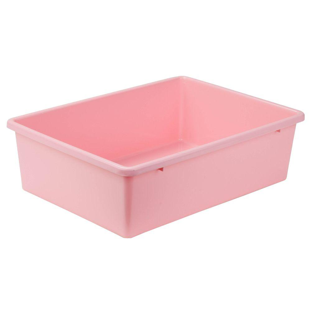 Honey-Can-Do 16.5-Qt. Storage Bin in Light Pink