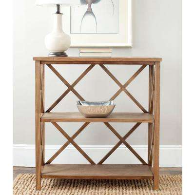 Liam Oak Open Bookcase