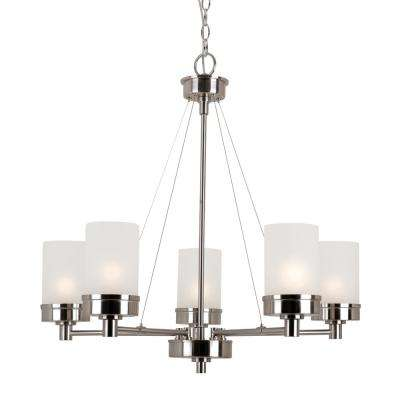 Fusion 5-Light Brushed Nickel Chandelier