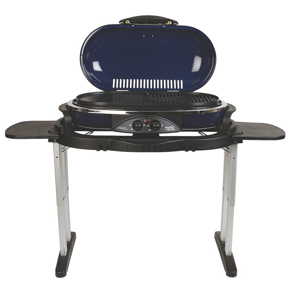 Coleman Roadtrip Lx  Burner Portable Propane Grill In Blue 2000020966 The Home Depot