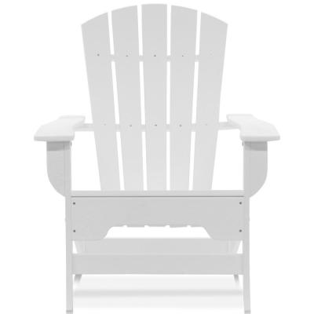 Boca Raton White Recycled Plastic Adirondack Chair