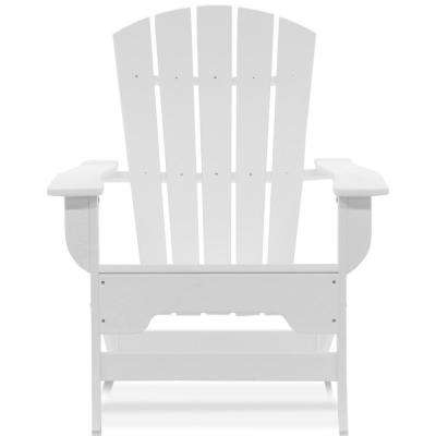 Boca Raton White Recycled Plastic Adirondack Chair