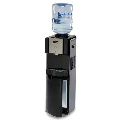 Top Loading Hot and Cold Water Dispenser with Storage Cabinet