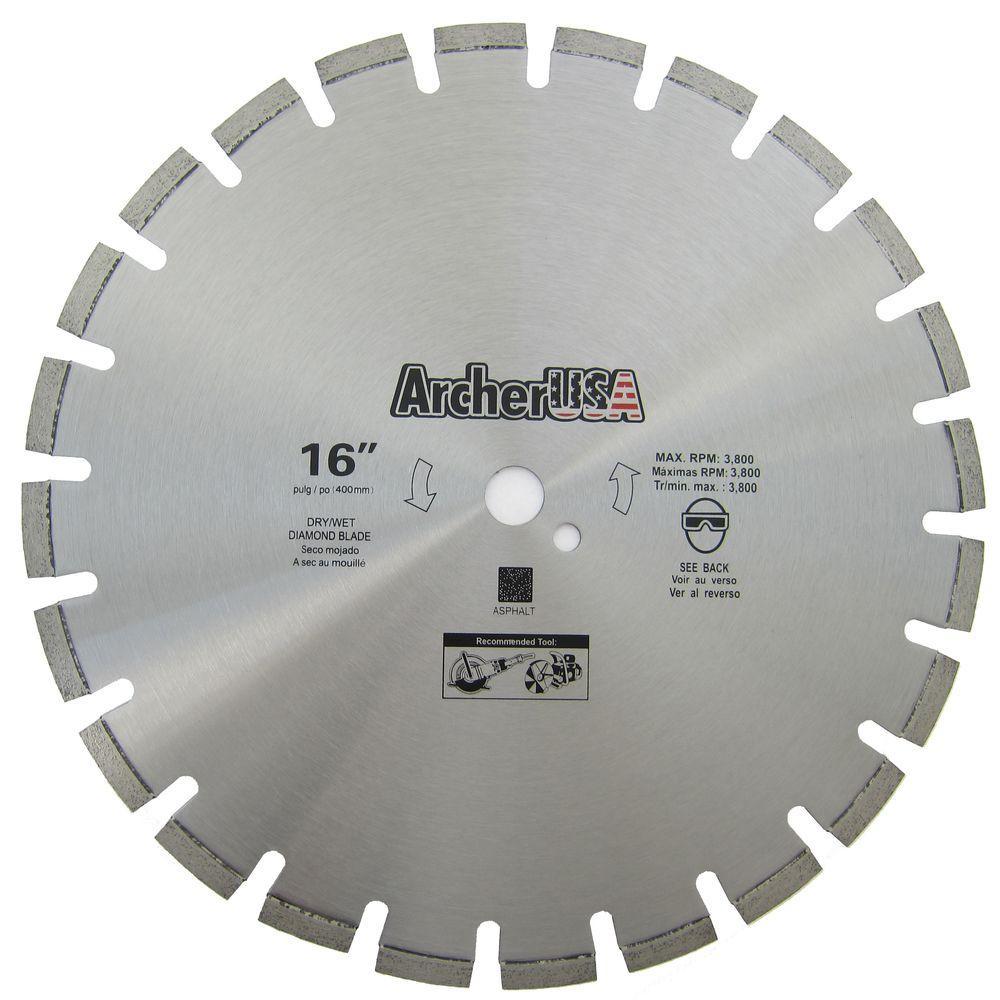 16 in. Diamond Blade for Asphalt Cutting
