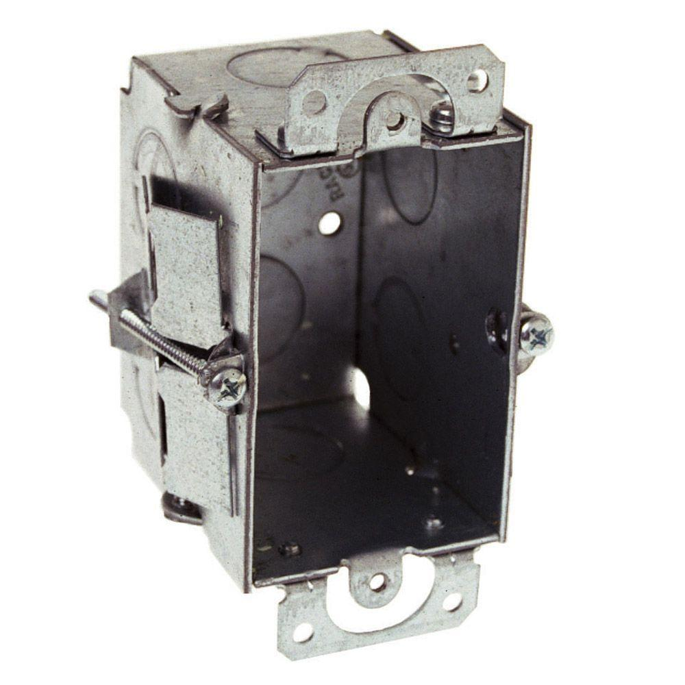 3 In  X 2 In  Gangable Switch Electrical Box  Plaster Ears