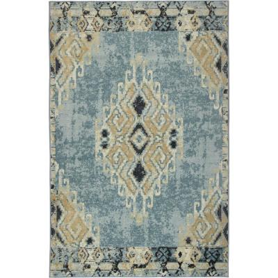 Ember Blue 8 ft. x 10 ft. Indoor Area Rug