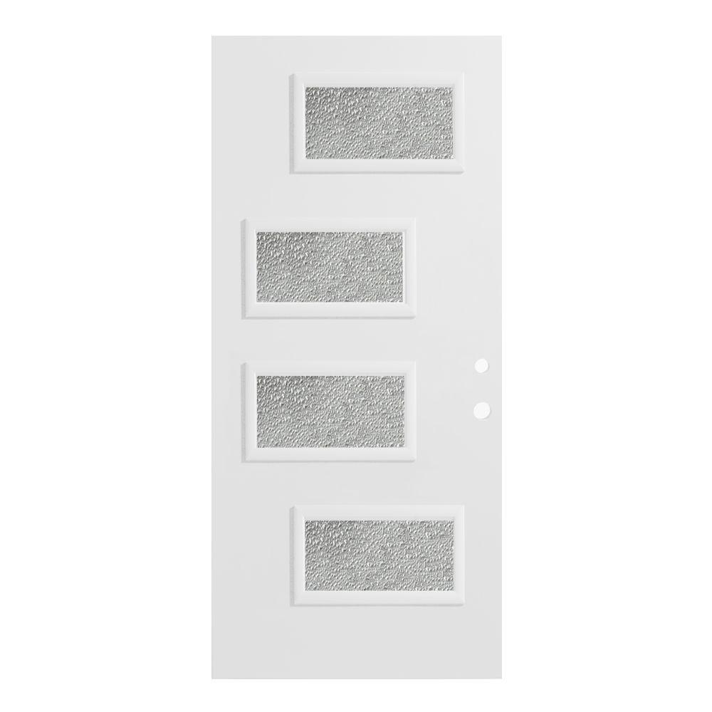 36 in. x 80 in. Beatrice Diamond 4 Lite Painted White