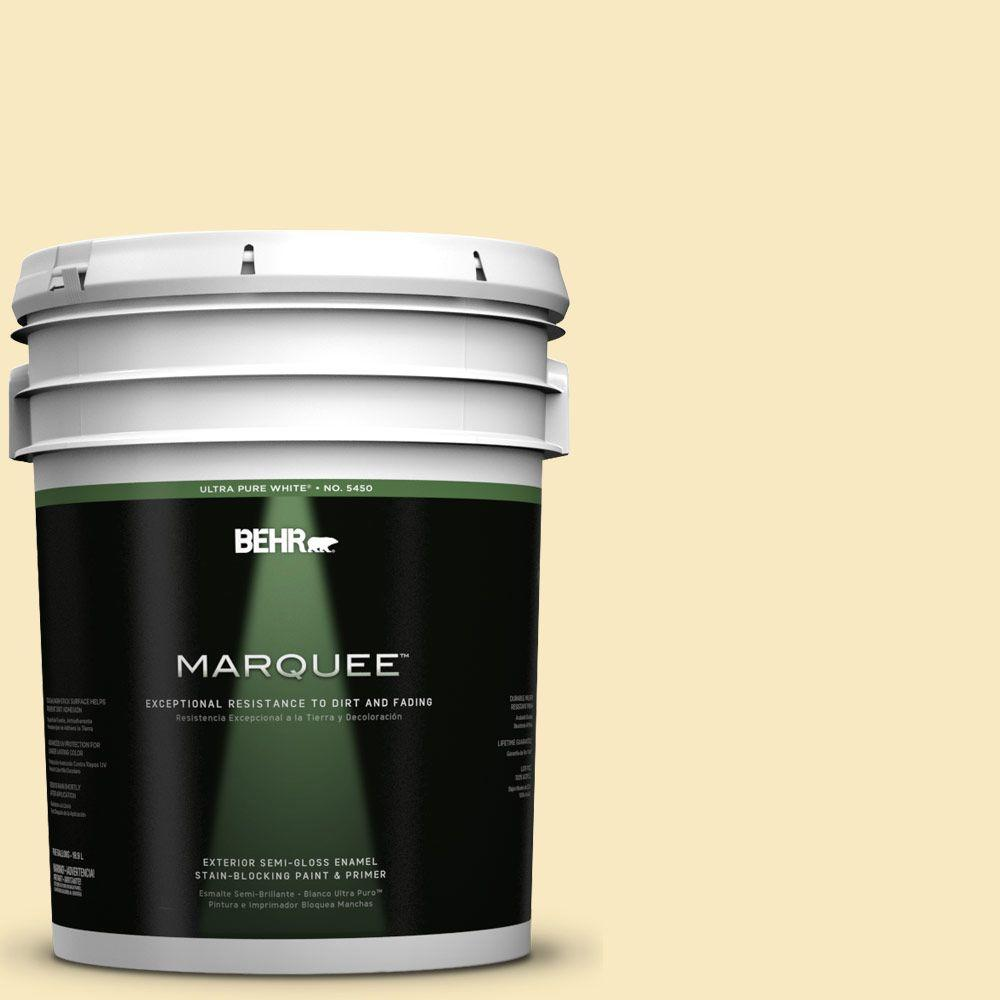 Behr Marquee 5 Gal T15 9 Dandelion Tea Semi Gloss Enamel Exterior Paint 545005 The Home Depot