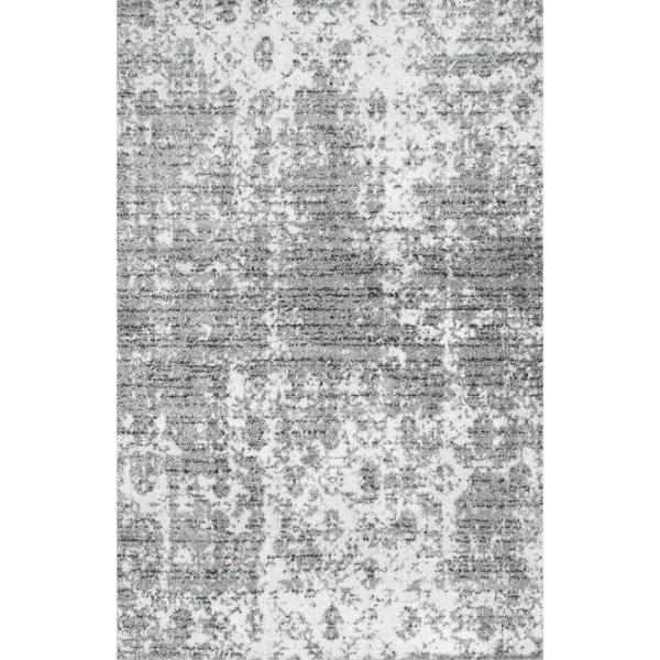 Deedra Misty Contemporary Gray 10 ft. x 13 ft. Area Rug