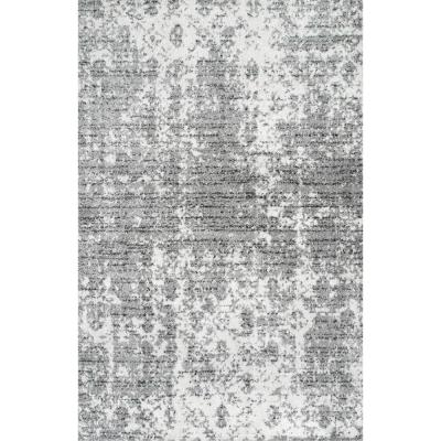 Deedra Misty Contemporary Gray 3 ft. x 5 ft. Area Rug