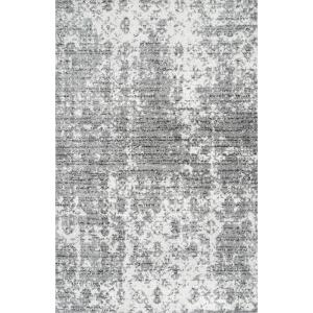 Deedra Misty Contemporary Gray 4 ft. x 6 ft. Area Rug