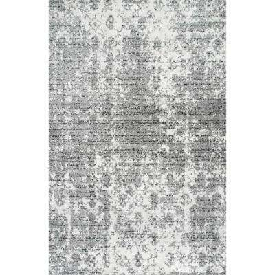 Deedra Misty Contemporary Gray 8 ft. x 12 ft. Area Rug