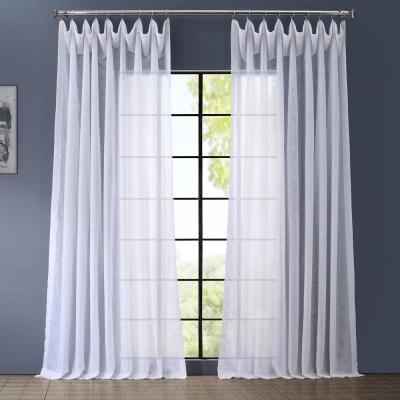 Signature Double Wide White Sheer Curtain - 100 in. W x 108 in. L