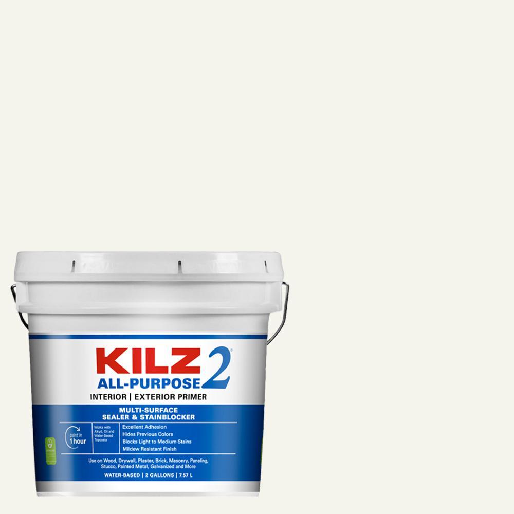 KILZ 2 ALL PURPOSE 2 Gal  White Interior/Exterior Multi-Surface Primer,  Sealer, and Stain Blocker