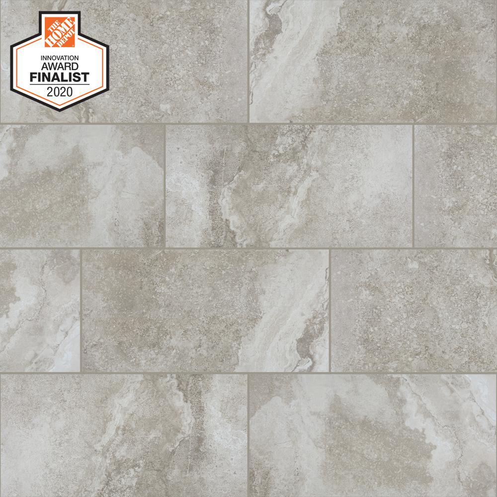 Daltile Quictile Perspective Grey 3 In X 6 In Glazed Porcelain Locking Floor Tile Sample 0000hdchiprv70 The Home Depot