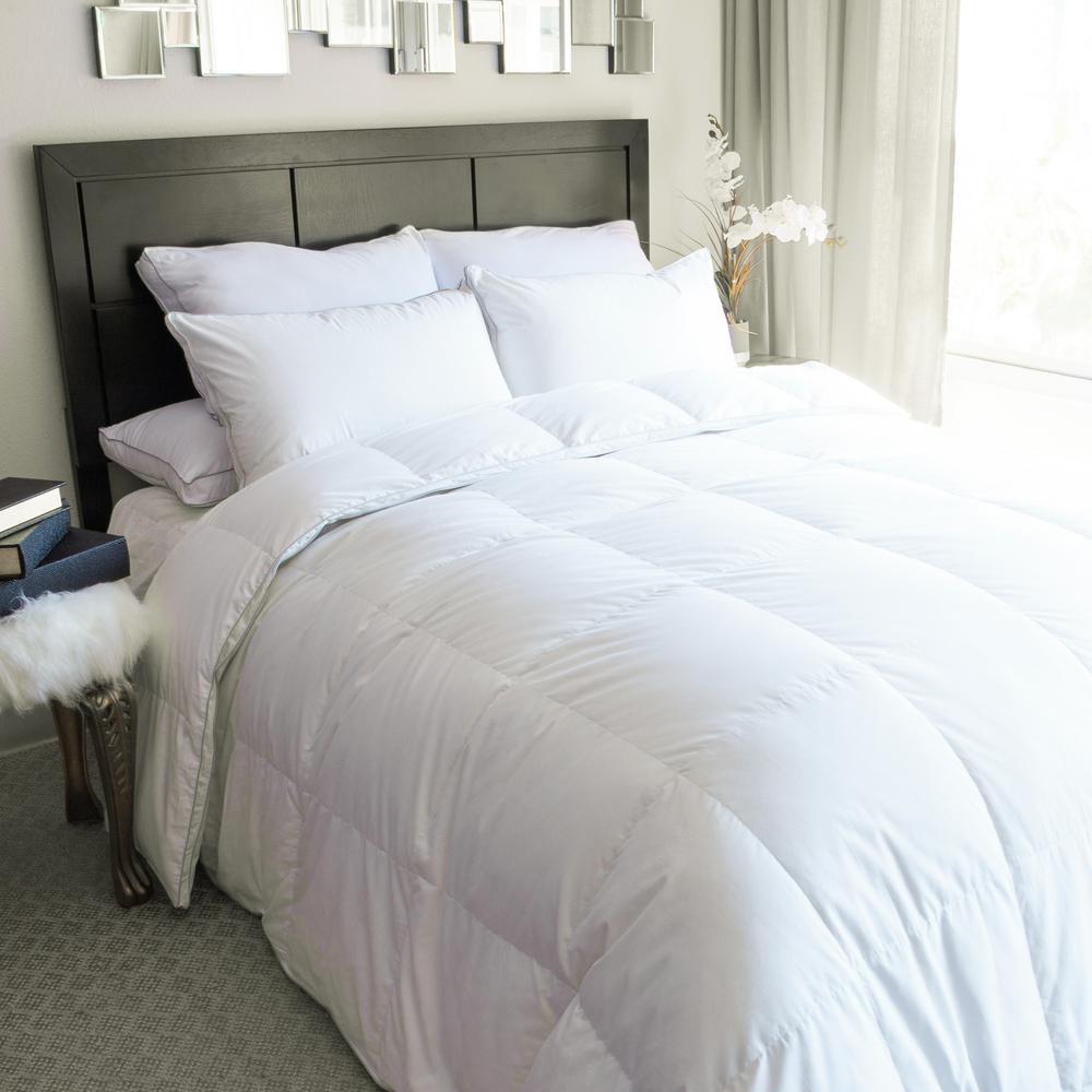 King White Goose Down Comforter