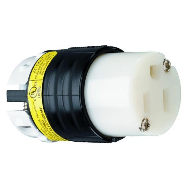 Pass & Seymour Extra-Hard Use Ground Continuity Monitoring 15 Amp 125-Volt NEMA 5-15R Straight Blade Connector