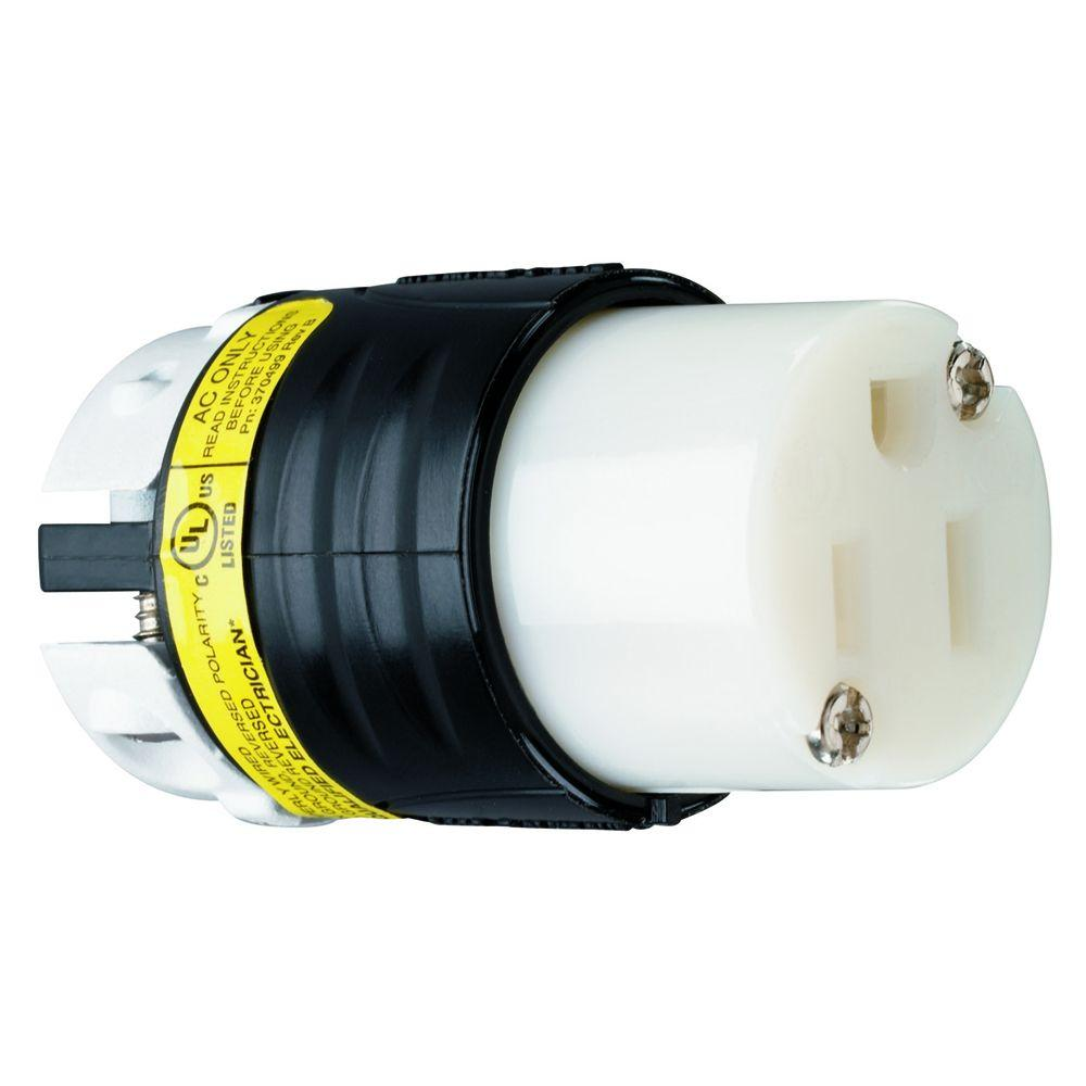 15 Amp 125-Volt Straight Blade GCM Connector