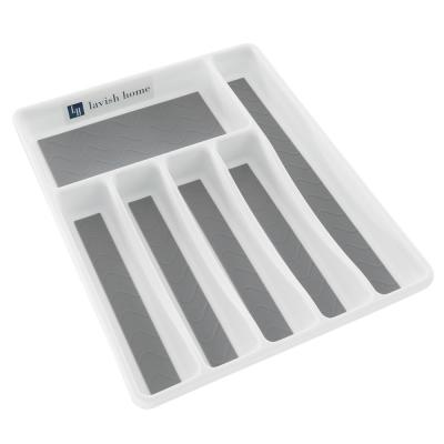 White Durable Plastic Drawer Organizer with 6-Sections