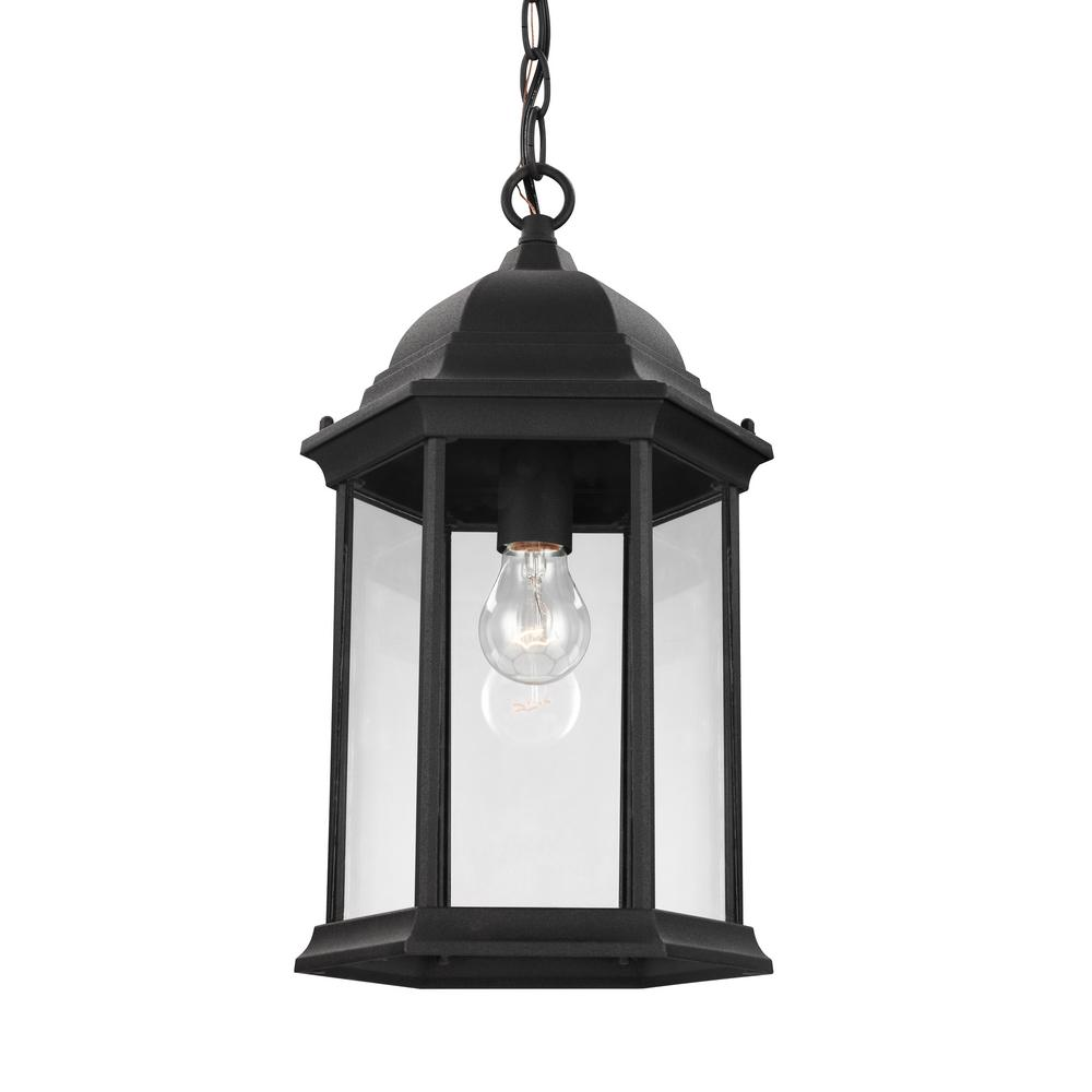 Sevier Black 1-Light Outdoor Hanging Pendant