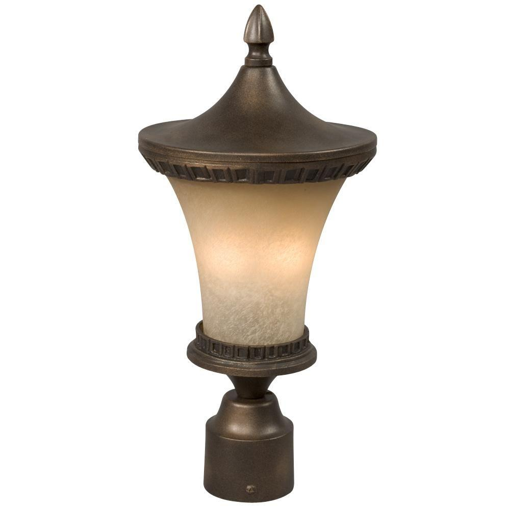 Negron 2-Light Outdoor Flemish Copper Post Lantern